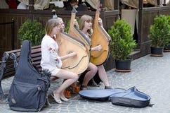 Музыканты улицы Стоковая Фотография
