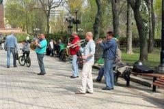 Музыканты улицы Стоковая Фотография RF