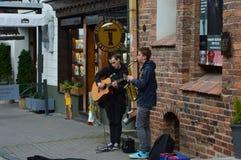 Музыканты улицы стоковое фото rf