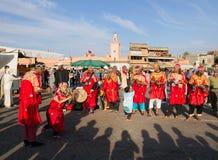 Музыканты Gnawa в Marrakech стоковая фотография rf