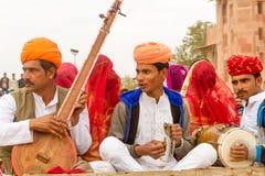 Музыканты Rajasthani Стоковое Изображение