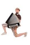 музыкант аккордеони холодный стоковое изображение rf