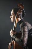 музыкант виолончели виолончелиста классический Стоковое Изображение