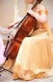 музыкант виолончели Стоковое фото RF