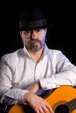 музыкант гитары Стоковое фото RF