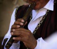 Музыкант и каннелюра стоковое фото