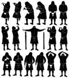 Музыкант каннелюры силуэта Шотландии иллюстрация штока