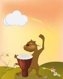 музыкант кота иллюстрация вектора