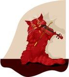 музыкант кота Стоковая Фотография RF