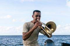 Музыкант на Malecon Стоковые Фотографии RF