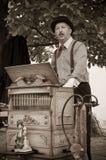 Музыкант органа бочонка, игрок Стоковое Изображение RF