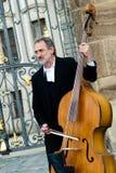 Музыкант Праги Стоковое фото RF