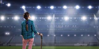 Музыкант утеса на концерте Мультимедиа стоковые изображения rf