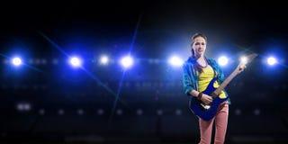 Музыкант утеса на концерте Стоковое Фото