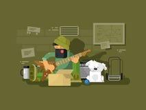 Музыкант улицы в подземном переходе бесплатная иллюстрация