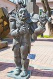 Музыкант улицы памятника Стоковые Фотографии RF