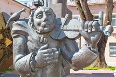 Музыкант улицы памятника Стоковое Изображение