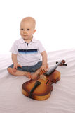 музыкант 2 младенца стоковая фотография