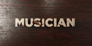 Музыкант - grungy деревянный заголовок на клене - представленное 3D изображение неизрасходованного запаса королевской власти бесплатная иллюстрация