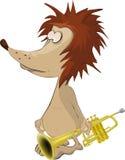 музыкант hedgehog Стоковое Изображение