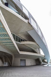 Музыка дворца, современная архитектура музея в испанском городе  Стоковые Фотографии RF