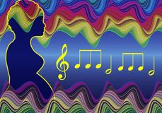 Музыка во время беременности иллюстрация штока