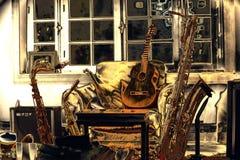 Музыка живущей комнаты стоковые изображения rf