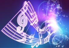 Музыка замечает музыкальную предпосылку Стоковые Фотографии RF