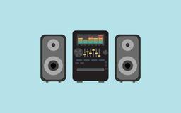 Музыка дизайна вектора звуковой системы плоская бесплатная иллюстрация