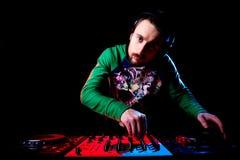 Музыка диск-жокея смешивая Стоковая Фотография RF