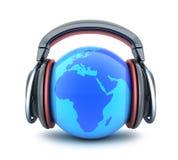 Музыка и земля абстрактного символа Стоковая Фотография