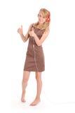 Музыка милого девочка-подростка слушая на ее наушниках Стоковое Изображение RF