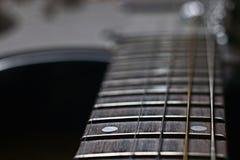 Музыка печали музыки гитары макроса Стоковое Изображение RF