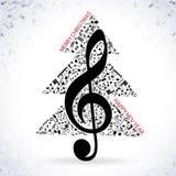 Музыка предпосылки 2017 рождества голубая Стоковое Изображение