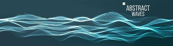 Музыка развевает абстрактный ядровый вектор предпосылки Кибер UI, элемент HUD Сеть Wireframe иллюстрация иллюстрация вектора
