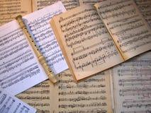 Музыка чистого листа Конец-вверх каннелюра Стоковые Фотографии RF