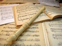 Музыка чистого листа Конец-вверх каннелюра Стоковые Изображения RF