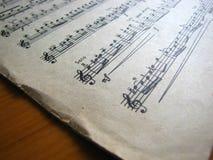 Музыка чистого листа Конец-вверх ретро Стоковое Фото