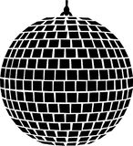 Музыка шарика зеркала иллюстрация штока