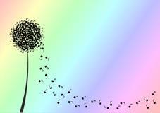 Музыкальная поздравительная открытка цветка бесплатная иллюстрация