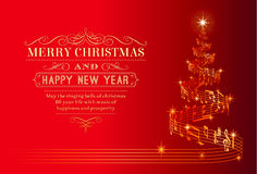 Музыкальная рождественская елка Стоковое Изображение