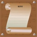 Музыкальное меню кафа с зерном и примечаниями кофе Стоковые Фотографии RF