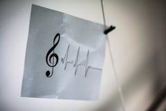 Музыкальное примечание и простая диаграмма Стоковое Изображение RF