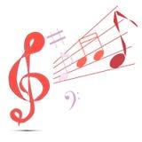 музыкальные знаки Стоковые Изображения
