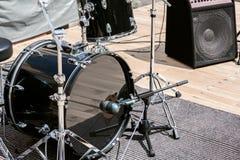 Музыкальные инструменты на этапе Стоковое Фото