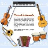 Музыкальные инструменты Стоковые Фотографии RF