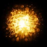 Музыкальные символы с звездами бесплатная иллюстрация