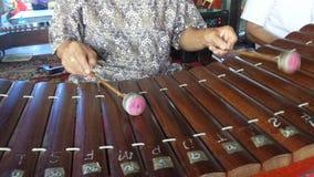 Музыкальный инструмент бамбуковой циновки тайский Стоковое фото RF