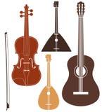 Музыкальный инструмент.  Комплект Стоковое Изображение