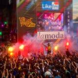 Музыкальный фестиваль в Москве стоковые фото